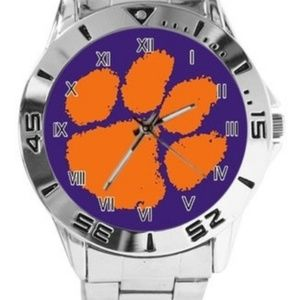 NCAA Alabama Clemson Tigers Watch Stainles…